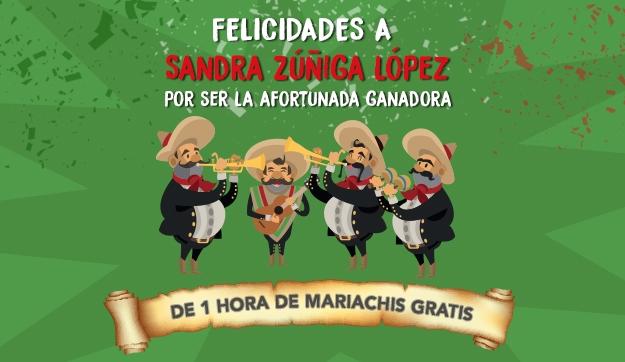 ¡Ya tenemos ganadora de una hora gratis de mariachis!